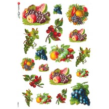 Mixed Fruit Rice Paper Decoupage Sheet ~ Italy