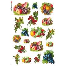 Mixed Fruit Rice Paper Decoupage Sheet ~ Italy