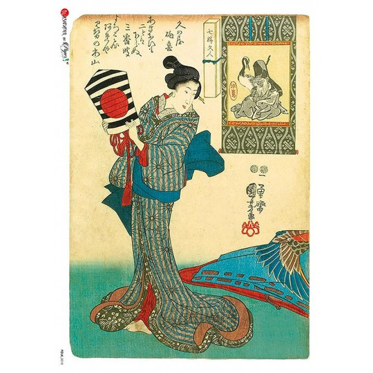 Japanese Geisha Rice Paper Decoupage Sheet ~ Italy