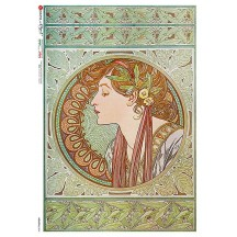 Art Nouveau Mucha Maiden Rice Paper Decoupage Sheet ~ Italy