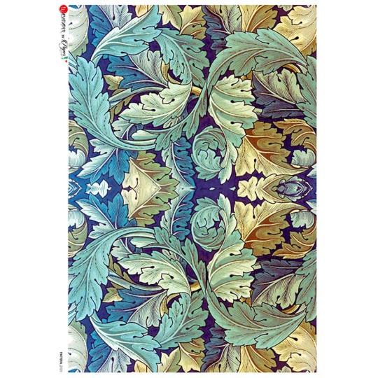William Morris Large Art Nouveau Acanthus Leaves Rice Paper Decoupage Sheet ~ Italy