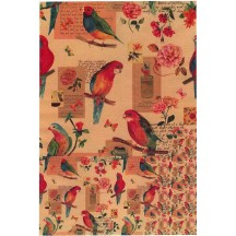 Parakeet and Flower Collage Rice Paper Decoupage Sheet ~ Italy