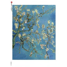 Van Gogh Almond Blossoms in Bloom Rice Paper Decoupage Sheet ~ Italy