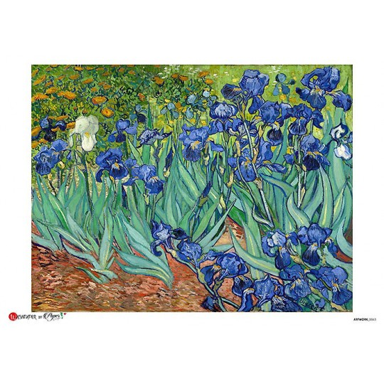 Van Gogh Irises Rice Paper Decoupage Sheet ~ Italy