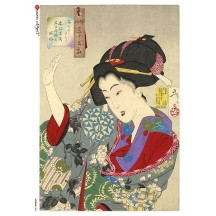 Japanese Woman Rice Paper Decoupage Sheet ~ Italy