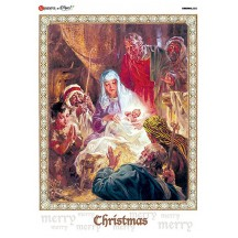 Classic Nativity Scene Rice Paper Decoupage Sheet ~ Italy
