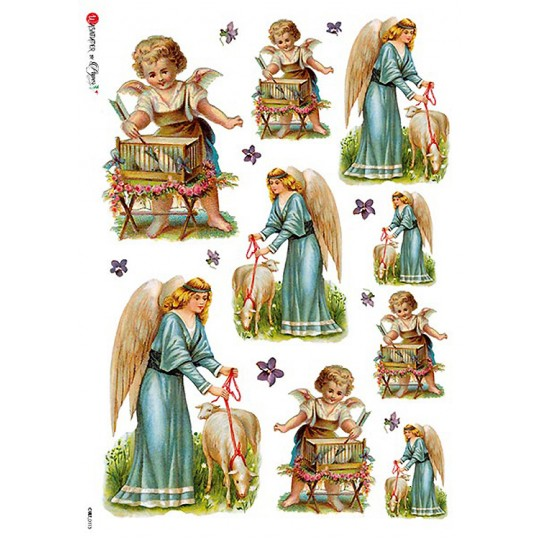 Easter Angels Rice Paper Decoupage Sheet ~ Italy