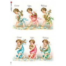 Love Faith Hope Angels Rice Paper Decoupage Sheet ~ Italy