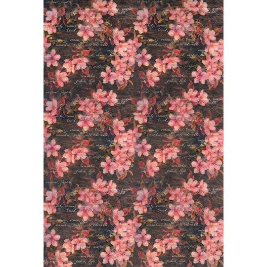 Pink Blossom Floral Rice Paper Decoupage Sheet ~ Italy