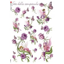 Bellflower Fairy Italian Flower Fairies Rice Paper Decoupage Sheet ~ Italy