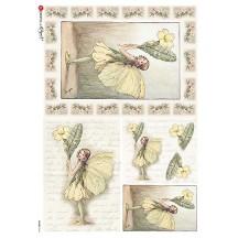 The Primrose Fairy Flower Fairies Rice Paper Decoupage Sheet ~ Italy