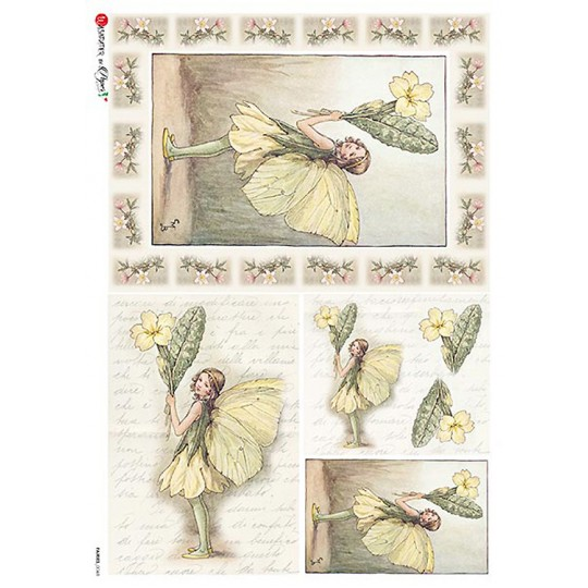 The Primrose Fairy Flower Fairies Rice Paper Decoupage Sheet ~ Italy