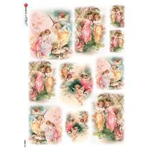 Flower Fairies Vignettes Rice Paper Decoupage Sheet ~ Italy