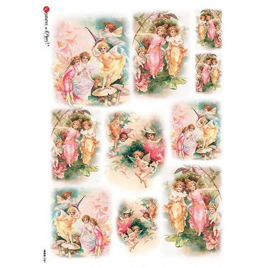 Flower Fairies Vignettes Rice Paper Decoupage Sheet ~ Italy
