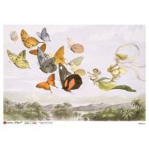 Butterflies and Fairies Rice Paper Decoupage Sheet ~ Italy