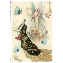 Butterfly Fairies Rice Paper Decoupage Sheet ~ Italy