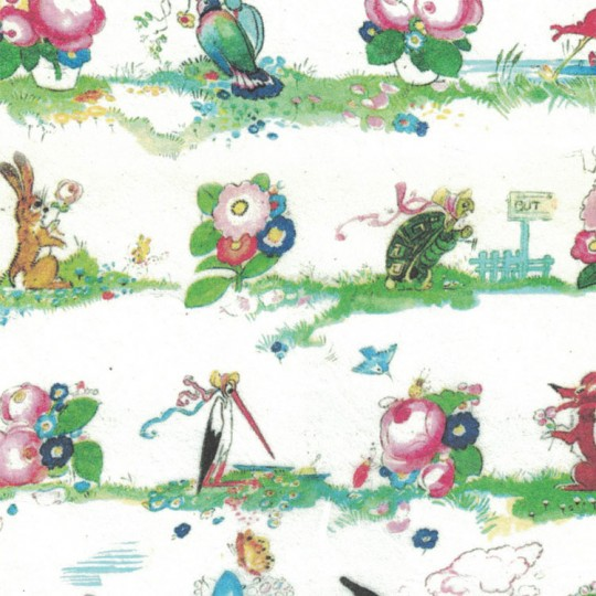 Whimsical Fairytale and Floral Rice Paper Decoupage Sheet ~ Italy