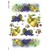 Pears and Grapes Rice Paper Decoupage Sheet ~ Italy