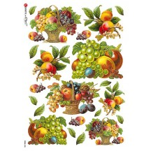 Classic Fruit Basket Rice Paper Decoupage Sheet ~ Italy