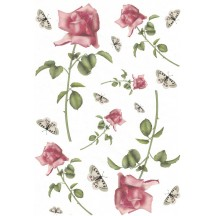 Roses and Butterflies Rice Paper Decoupage Sheet ~ Italy