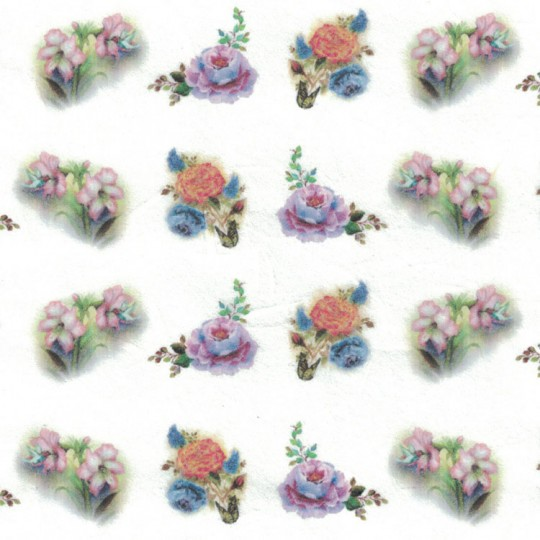 Mixed Flower Sprays Rice Paper Decoupage Sheet ~ Italy