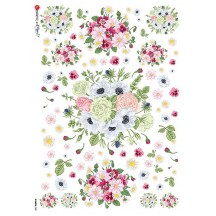 Springtime Flowers Rice Paper Decoupage Sheet ~ Italy