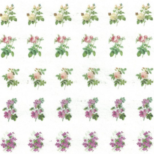 Petite Flower Sprays Rice Paper Decoupage Sheet ~ Italy