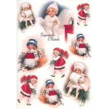 Italian Children Christmas Rice Paper Decoupage Sheet ~ Italy