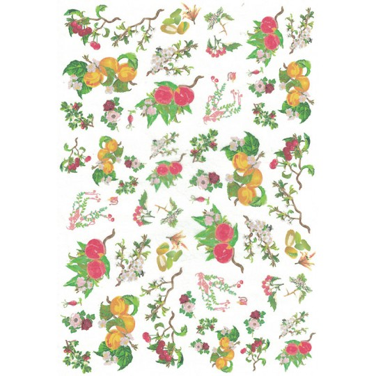 Mixed Fruit Boughs Rice Paper Decoupage Sheet ~ Italy