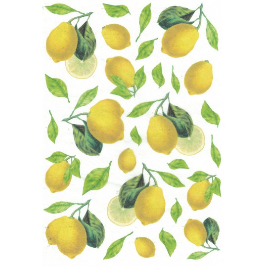 Mixed Lemons Rice Paper Decoupage Sheet ~ Italy