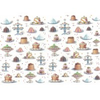 Fancy Mixed Cakes and Pastries Rice Paper Decoupage Sheet ~ Italy