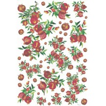 Mixed Pomegranates Rice Paper Decoupage Sheet ~ Italy