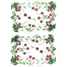 Cherry Rice Paper Decoupage Sheet ~ Italy