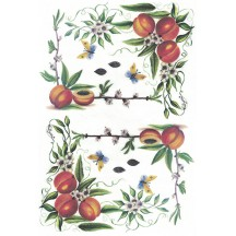 Peaches Rice Paper Decoupage Sheet ~ Italy