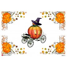 Halloween Pumpkin Print Rice Paper Decoupage Sheet ~ Italy
