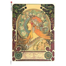 Art Nouveau Mucha Zodiac Rice Paper Decoupage Sheet ~ Italy