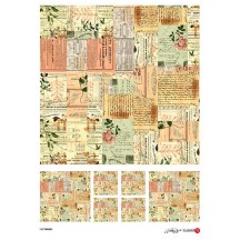 Post Card Ephemera Collage Rice Paper Decoupage Sheet ~ Italy