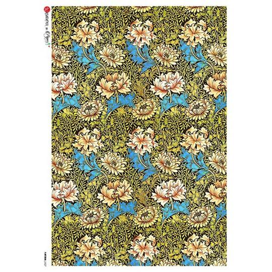 William Morris Art Nouveau Flowers Rice Paper Decoupage Sheet ~ Italy