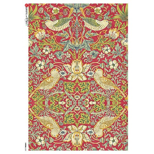 William Morris Art Nouveau Birds Rice Paper Decoupage Sheet ~ Italy