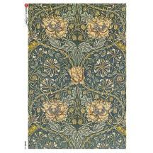 William Morris Art Nouveau Flower and Vines Rice Paper Decoupage Sheet ~ Italy