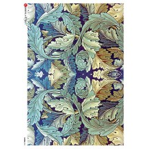 William Morris Large Art Nouveau Acanthus Leaves Rice Paper Decoupage Sheet ~ Italy