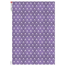 Purple Brocade Rice Paper Decoupage Sheet ~ Italy