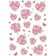 Flower Hearts and Butterflies Rice Paper Decoupage Sheet ~ Italy