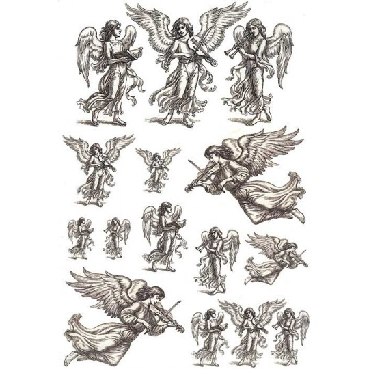 Musical Angels Rice Paper Decoupage Sheet ~ Italy
