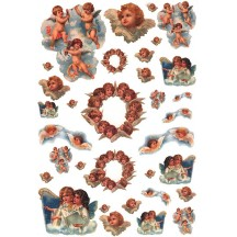 Angels and Cherubs Rice Paper Decoupage Sheet ~ Italy