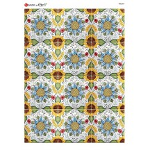 Colorful Sunflower Tiles Rice Paper Decoupage Sheet ~ Italy
