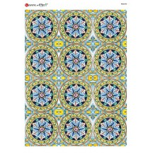 Colorful Portuguese Tiles Rice Paper Decoupage Sheet ~ Italy