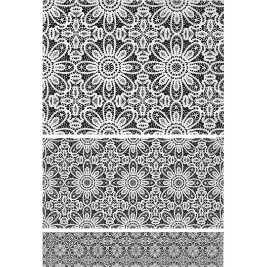 Tiled Floral Lace Rice Paper Decoupage Sheet ~ Italy