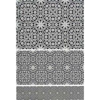 Byzantine Floral Lace Rice Paper Decoupage Sheet ~ Italy