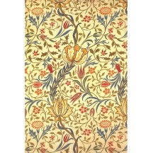 Yellow Stylized Flower and Vines Rice Paper Decoupage Sheet ~ Italy